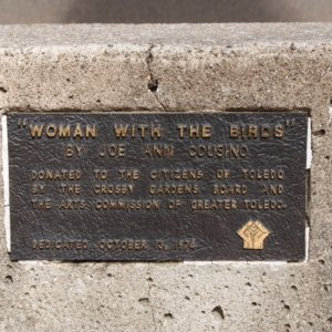 Woman with the Birds plaque.JPG