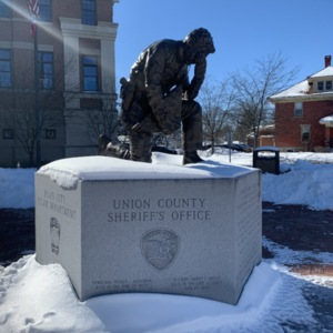 Full View of Union County Law Enforcement Memorial