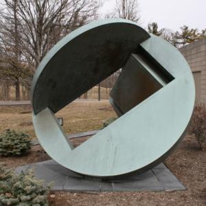 Folded Circle Two Squares 2014.JPG