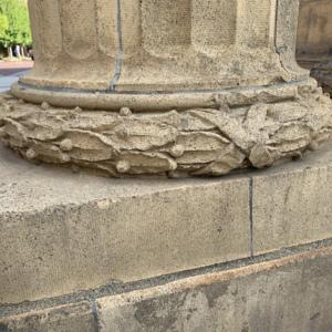 Union Station Arch Column Base Close Up