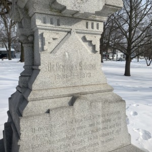Dr. Benjamin S. Brown Base Inscription