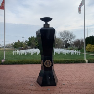 Ohio Fallen Heroes Memorial Eternal Flame Pillar View 1