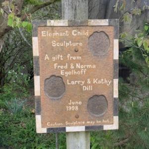 Elephant Child Sign