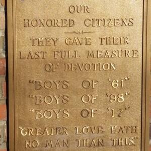 """The Spirit of the American Doughboy"" [Crooksville] Memorial Plaque"