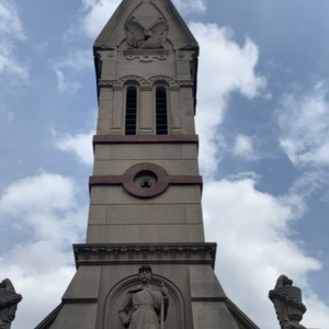 West Figure and Bell Tower, Soldiers and Sailors Memorial Chapel