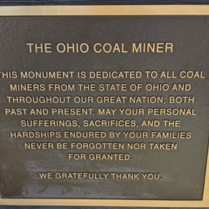 The Ohio Coal Miner- Plaque