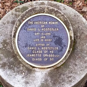 Close-up of the American Woman Plaque